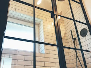 Shower Screen Urban Steel Designs حمامتجهيزات معدن Black