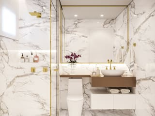 Baños modernos de Camila Pimenta | Arquitetura + Interiores Moderno