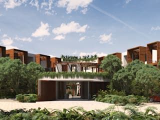 CHEMUYIL CONDOS AND SUITES VERGEL de Obed Clemente Arquitecto Tropical