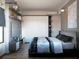 HOÀN THIỆN NỘI THẤT CĂN HỘ CHUNG CƯ MỸ PHÚC 65M2 - 3PN (ANH TÚ - Q.8) Phòng ngủ phong cách hiện đại bởi Công ty TNHH Nội Thất Mạnh Hệ Hiện đại