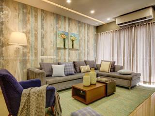 DLIFE Home Interiors 现代客厅設計點子、靈感 & 圖片 Blue