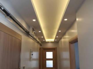 Asma tavan koridor Gökçe Yapı Modern Duvar & Zemin Kireçtaşı Beyaz