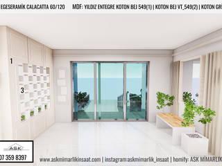 ASK MİMARLIK İNŞAAT – Apartman Girişi: modern tarz , Modern