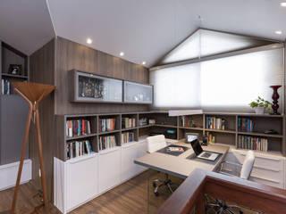 Casa Terrara Salas multimídia modernas por Bibiana Menegaz - Arquitetura de Atmosfera Moderno