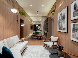 Suite Conceito Sheraton - Casa Cor RS 2019 Salas de estar modernas por Bibiana Menegaz - Arquitetura de Atmosfera Moderno
