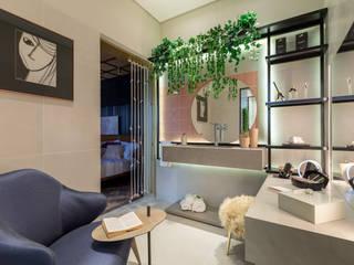 Banheiro das irmãs influenciadoras - Mostra Morar Mais POA Banheiros modernos por Bibiana Menegaz - Arquitetura de Atmosfera Moderno