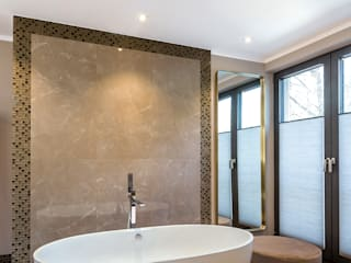 CONSCIOUS DESIGN - INTERIORS Asian style bathroom Tiles Beige