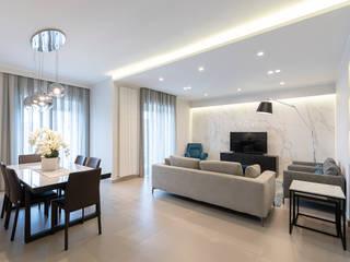 Ristrutturazione appartamento di 140 mq a Ottaviano, Napoli Soggiorno moderno di Facile Ristrutturare Moderno