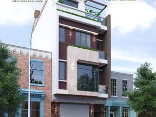 THIẾT KẾ VÀ THI CÔNG NHÀ PHỐ 3 TẦNG 1 TUM bởi Công ty CP kiến trúc và xây dựng Eco Home