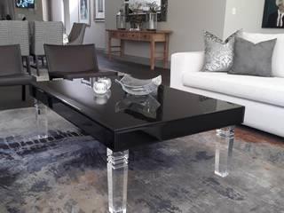 Osk black glass coffee BI-Dsign Living roomAccessories & decoration Black