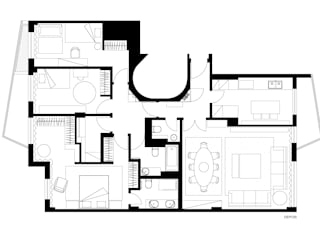 Casa Particular Quartos modernos por Projecto 84 Moderno