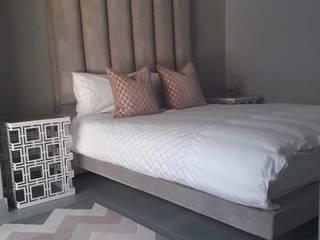 Osk Floating upholstered bed BI-Dsign BedroomBeds & headboards Grey