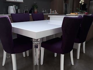 Osk custom breakfast table extension including upholstered chairs BI-Dsign KitchenTables & chairs