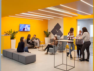 Interni sede SIMAL Business Center a Vicenza Studio Dalla Vecchia Architetti Complesso d'uffici moderni