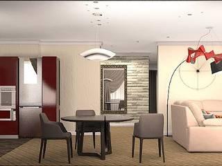 Интерьер квартиры в современном стиле Кухня в стиле модерн от ArchMagicInk Модерн