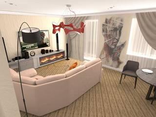 Интерьер квартиры в современном стиле Гостиная в стиле модерн от ArchMagicInk Модерн