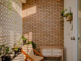 Private Balcony Ideation Design Balcony Bricks Multicolored