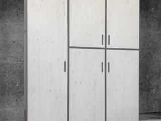 Modular cupboard: Gris-Blanc-Nœud // Grey-white-knot Michael Sprey Möbel*Stücke AnkleidezimmerKleiderschränke- und kommoden Holzwerkstoff