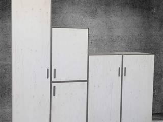 Modular cupboard: Gris-Blanc-Nœud // Grey-white-knot Michael Sprey Möbel*Stücke Moderne Arbeitszimmer Beton