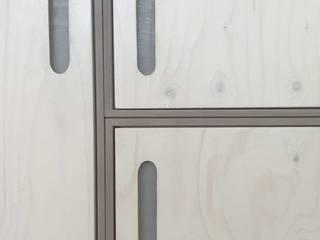 Modular cupboard: Gris-Blanc-Nœud // Grey-white-knot Michael Sprey Möbel*Stücke Geschäftsräume & Stores Holzwerkstoff