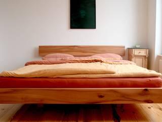 Floating Bed: Le Grand Poirier // Big Peartree Michael Sprey Möbel*Stücke Moderne Schlafzimmer Holz Rot