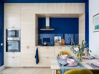 Дизайн интерьера однокомнатной квартиры 49 кв.м. в ЖК Skandi Klubb в эклектичном стиле: The Blue it is! Или вдохновение Балтийским морем от US Interiors, Студия дизайна интерьеров Ульяны Скапцовой Эклектичный