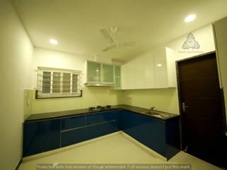 My Home Vihanga Modern kitchen by Meticular Interiors LLP Modern