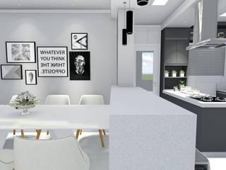 LK Engenharia e Arquitetura Modern dining room
