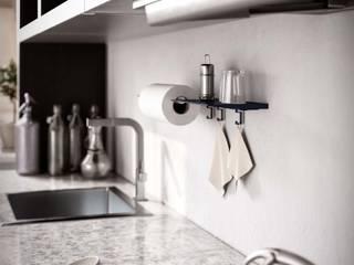 Damiano Latini srl Modern kitchen Aluminium/Zinc Blue