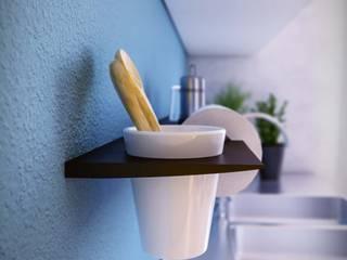 Damiano Latini srl Modern kitchen Aluminium/Zinc
