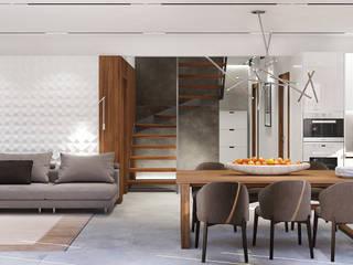 Дом в Аро Гостиная в стиле минимализм от Студия Павловой Кристины Минимализм