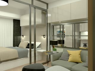 Making it Happen in Makati CIANO DESIGN CONCEPTS Small bedroom Beige