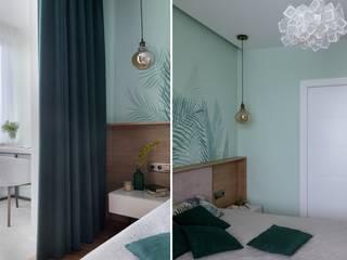Семейная квартира в ЖК Минск Мир Спальня в эклектичном стиле от Indigo Design Эклектичный