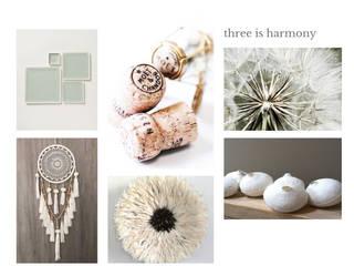 Three is harmony - Begane Grond - dertiger jaren appartement - Den Haag: modern  door Patricia Frieman Interior Design, Modern