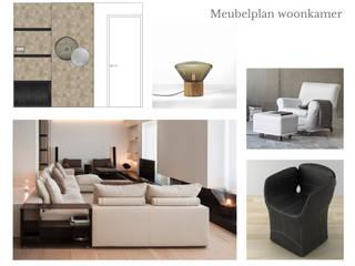 Stadsappartement: modern  door Patricia Frieman Interior Design, Modern