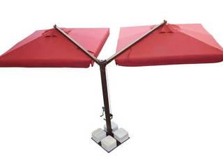 Öne Çift Açılır Büyük Bahçe Şemsiyesi Şemsiye Evi
