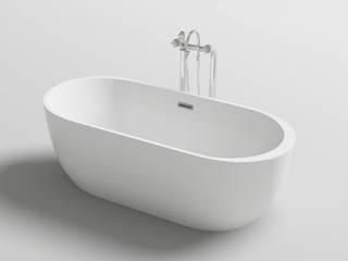 Vasca da bagno freestanding design moderno ovale 170x80 anche con idromassaggio di Bagno Italia Moderno