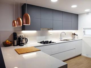 ACCESIBLE REFORMAS Dapur built in Grey
