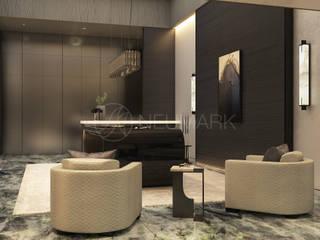 Salas de estar minimalistas por Марина Анисович, студия NEUMARK Minimalista