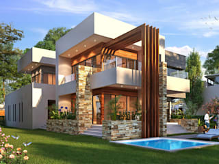 Exterior 3D Renders by D3D Architectural Visualisation Modern