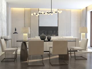 Minimalist dining room by Марина Анисович, студия NEUMARK Minimalist