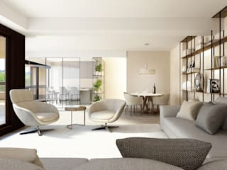 STUDIO PAOLA FAVRETTO SAGL Modern living room