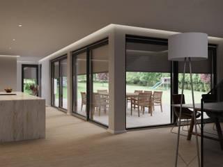 Fenster-Rollladen-Element (SMART FensterWunder) Blaurock GmbH Moderne Fenster & Türen Grau
