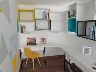 Proyecto de Diseño de Sala de Estudio Salas modernas de Pamela Cerna Interiores Moderno