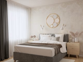 дизайнер Алина Куракова Small bedroom Beige