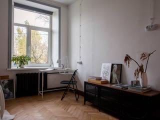 Квартира с историей Спальня в скандинавском стиле от Мельникова Света Скандинавский