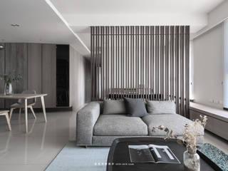 湜湜空間設計 Living room Solid Wood Wood effect