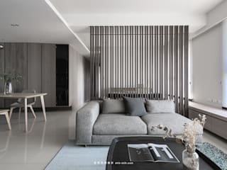 湜湜空間設計 Salas de estilo moderno Madera maciza Acabado en madera