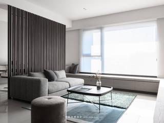 湜湜空間設計 Living room Wood Wood effect