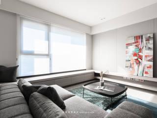 湜湜空間設計 Salas de estilo moderno Madera Acabado en madera